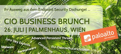 Einladung zum CIO Business Brunch - Ihr Ausweg aus dem Endpoint Security Dschungel