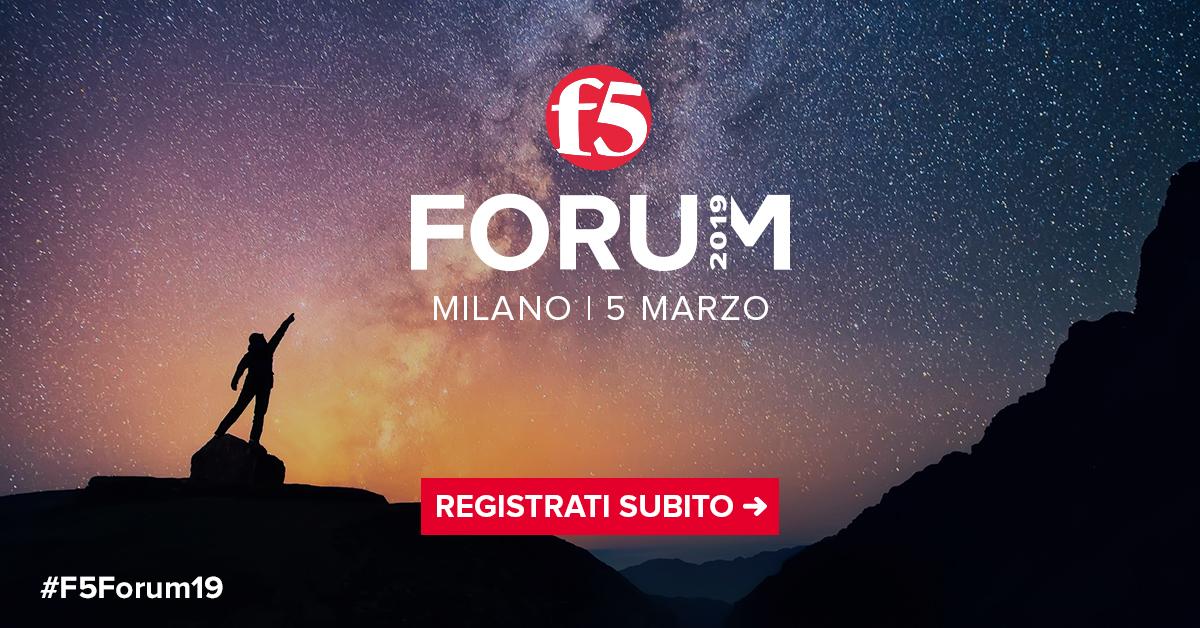 Forum f5 2019 5 marzo