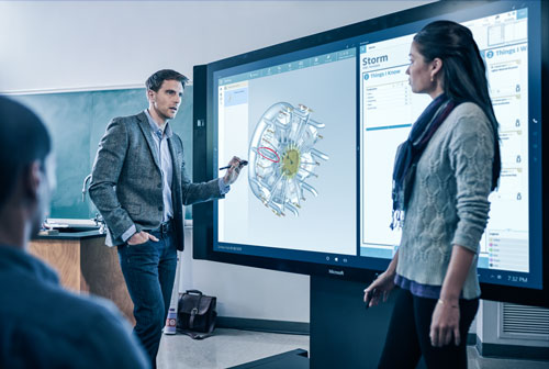 Microsoft Surface Hub in action