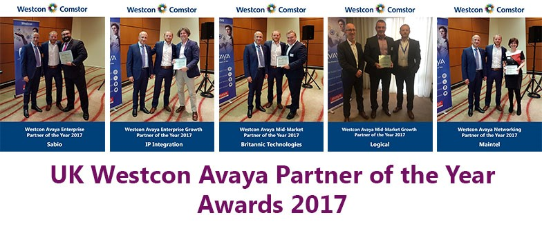 'Partner of the Year' winners: Sabio, IP Integration, Britannic Technologies, Logical, Maintel